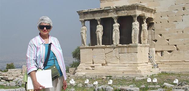 Bella Vivante at the Erechtheion Temple on the Acropolis, Athens, Greece