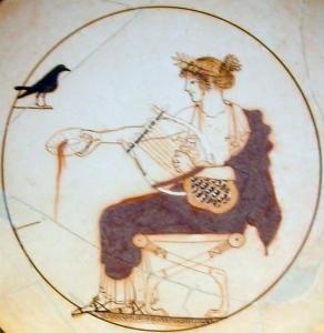 Apollo and lyre, Delphi