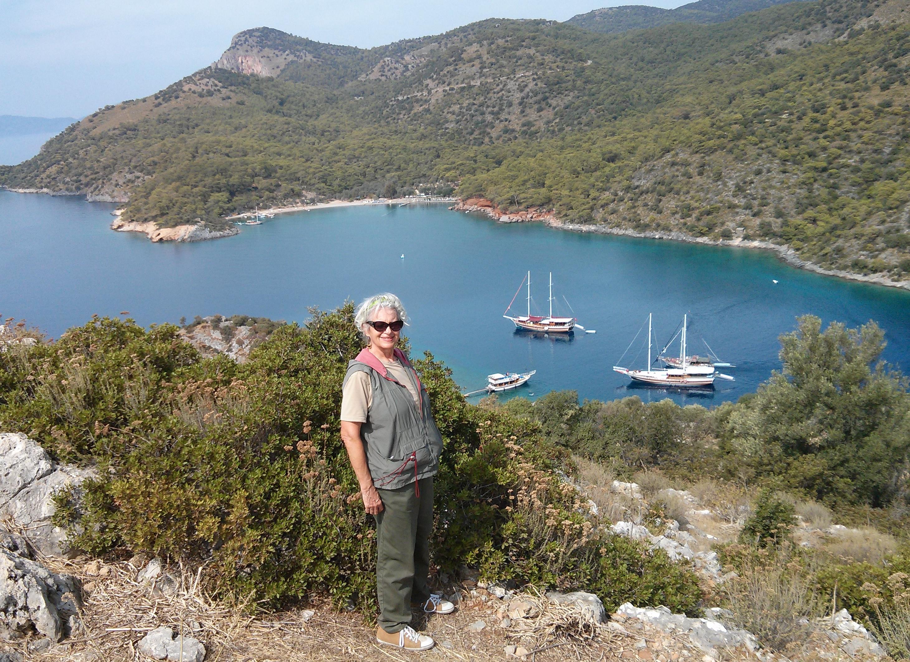 Bella Vivante and bay view at St. Nicholas island, Turkey