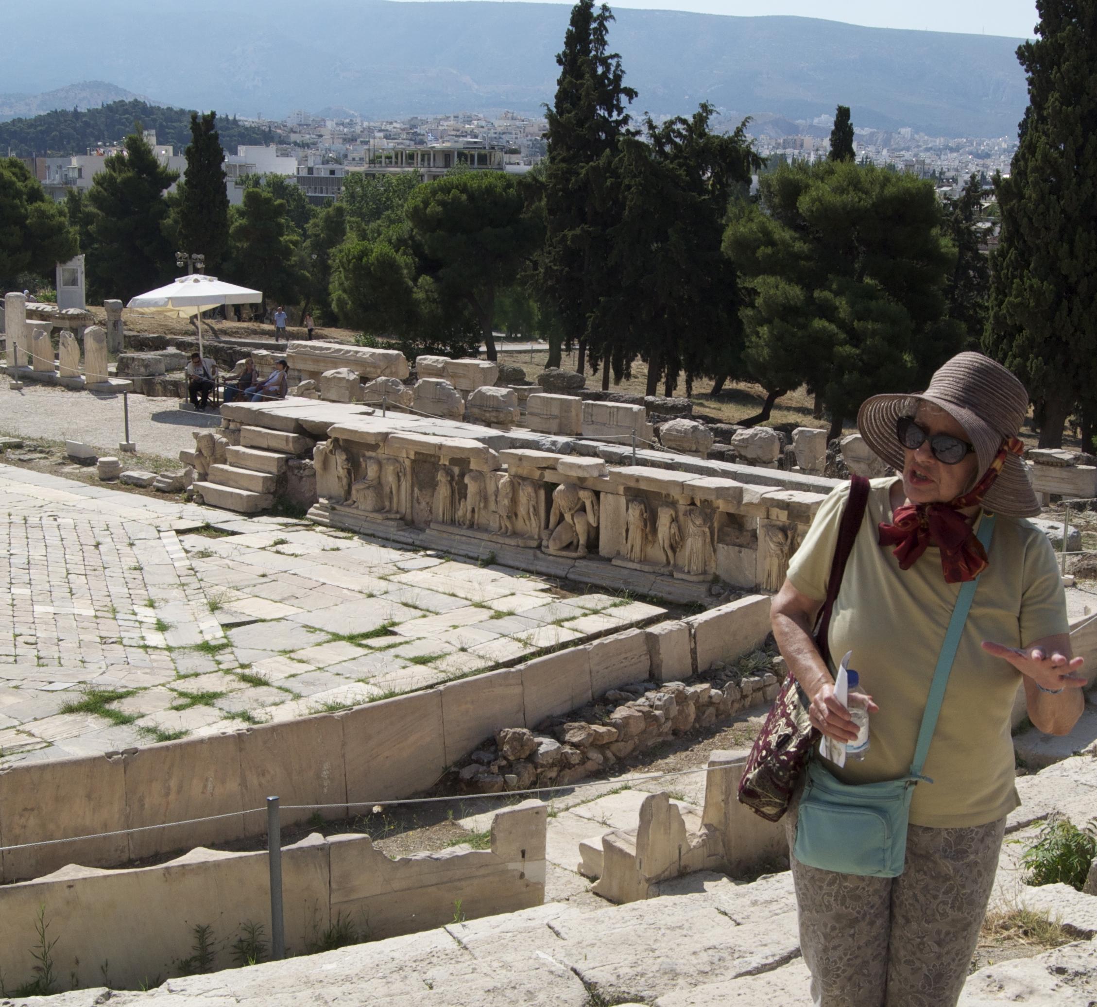Bella Vivante at the Theatre of Dionysos, Athens, Greece