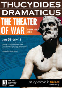 THUCYDIDES DRAMATICUS, THE THEATER OF WAR poster