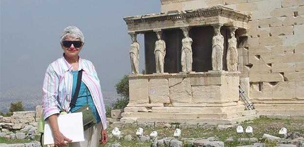 Bella Vivante at the Erechtheion Temple on the Acropolis, Athens, Greece